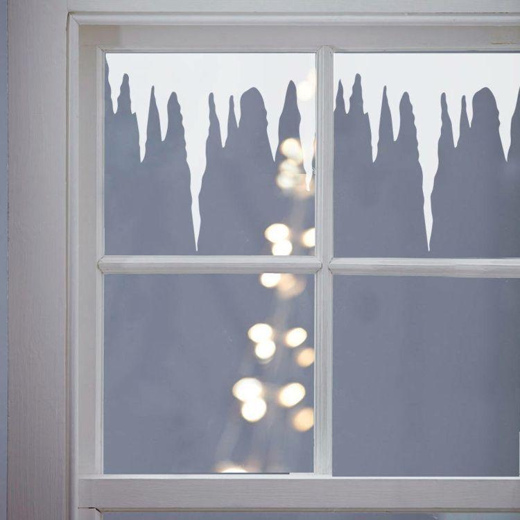 Fensterbilder zu Weihnachten basteln - Ideen mit Transparentpapier #weihnachtlicheszuhause