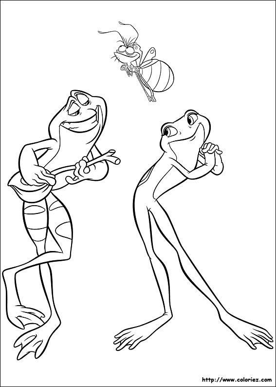 Coloriage La Princesse Et La Grenouille Frog Coloring Pages
