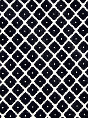 A Modern Geometric Upholstery Fabric In Navy Blue And White This Heavyweight Woven Textured Is Suitable For All Furniture