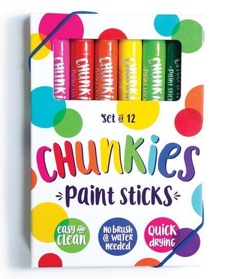 International Arrivals Chunkies Paint Sticks Zulily Painted Sticks Drawing Accessories Stick