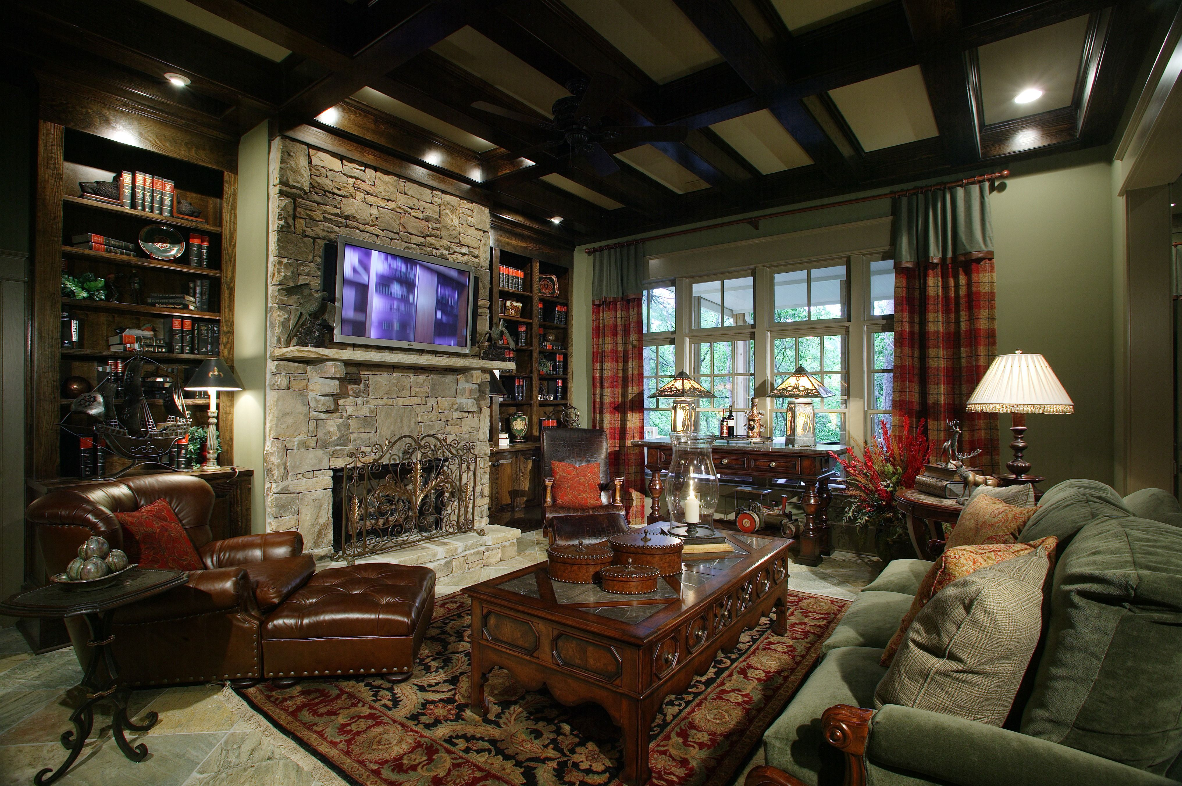 Ceiling Installation Cost Drop And Drywall Ceiling Prices Interior Design Family Room Family Room Rustic Family Room