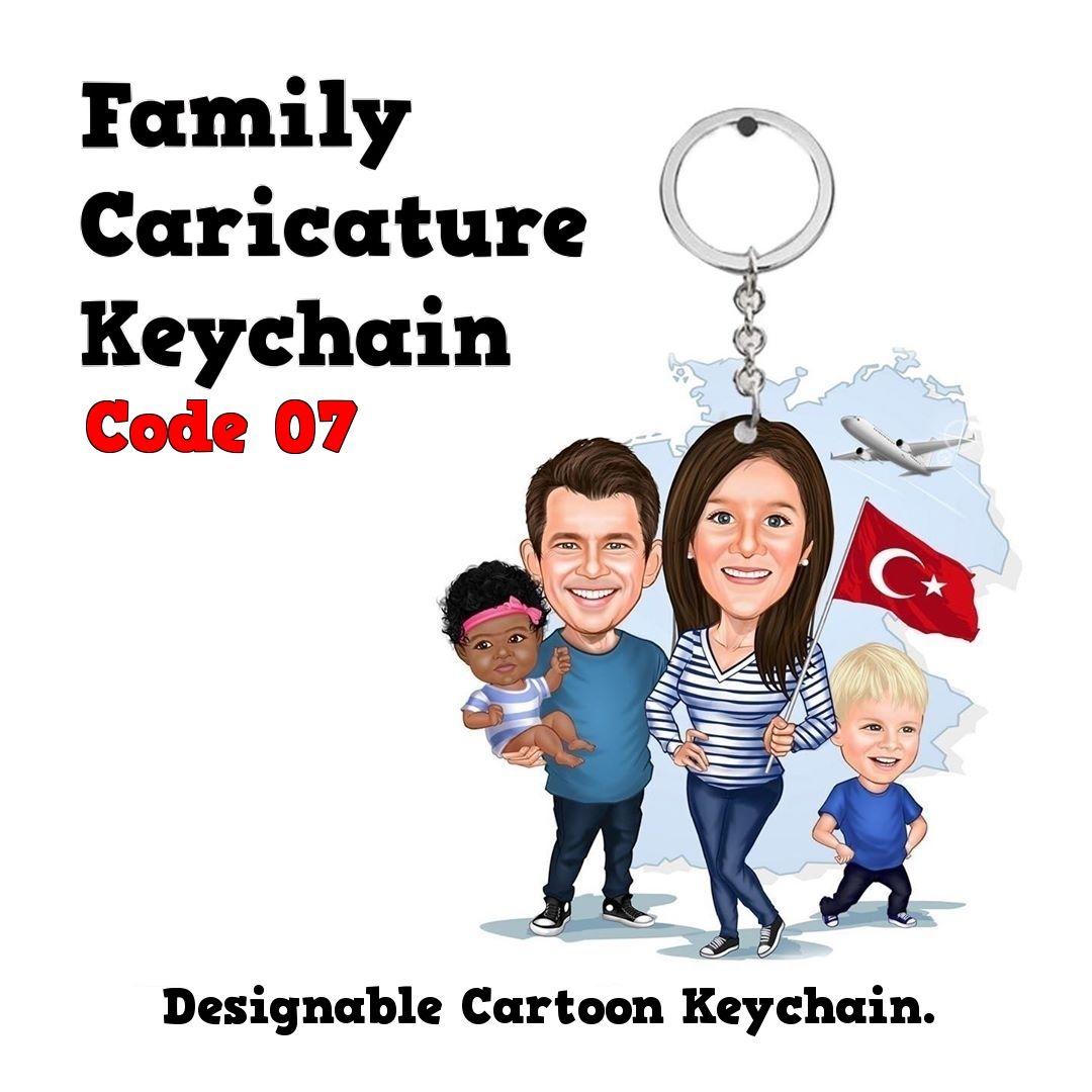 Family Cartoon Keychain Family Gift Kid Keychain Father Etsy In 2020 Family Cartoon Family Gifts Gifted Kids