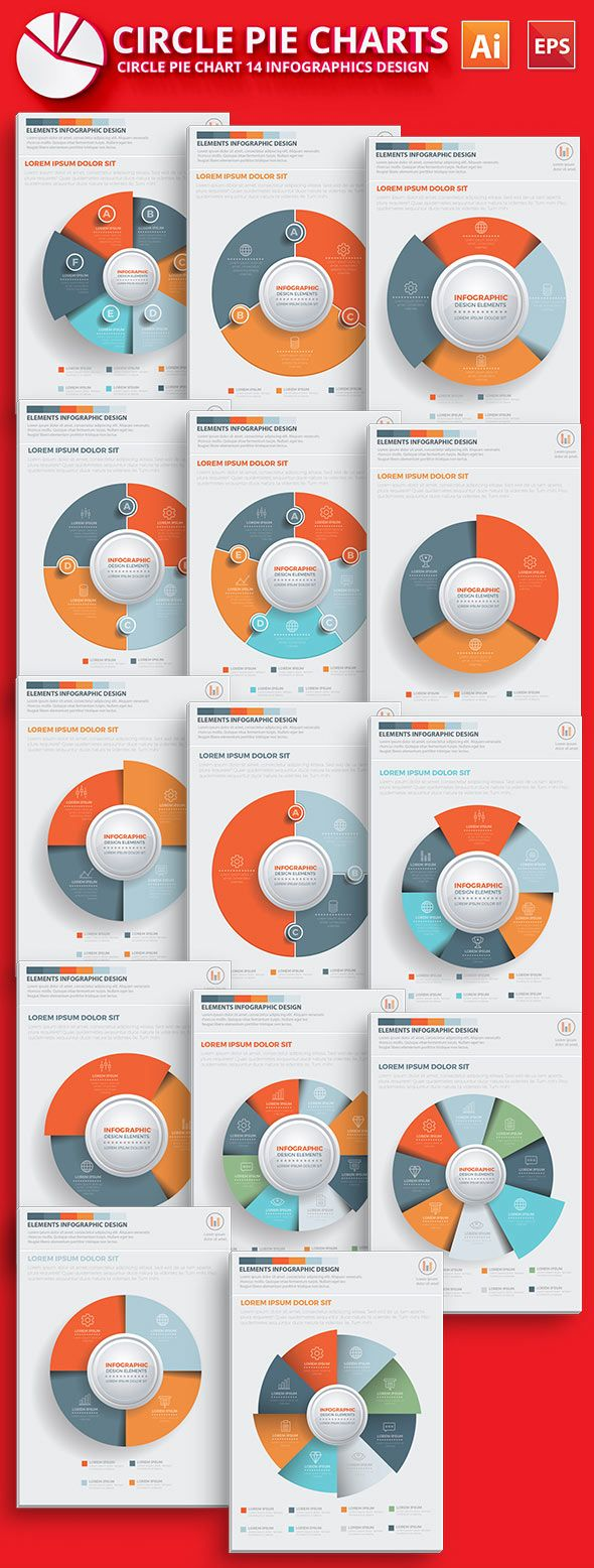 Circle Pie Chart Infographic Template  Art Web Design