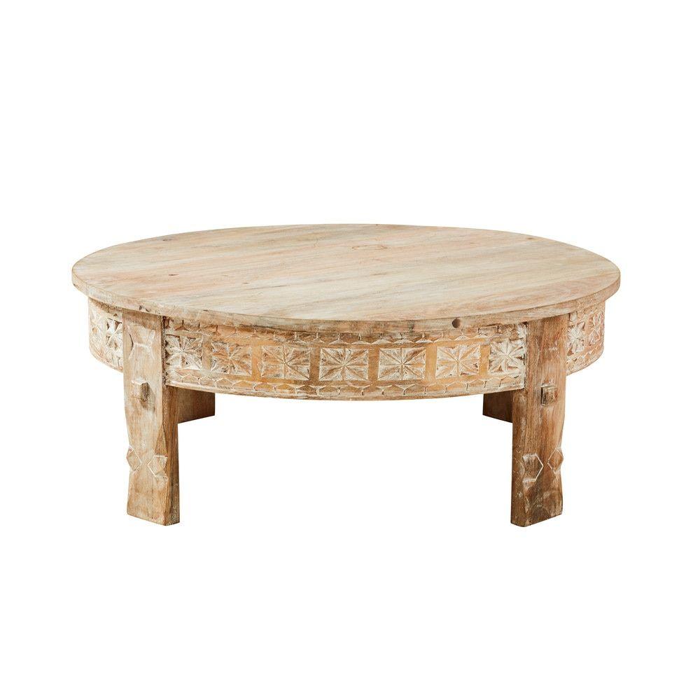 Table basse ronde en manguier massif sculpt products en 2019 table basse ronde table basse - Table basse en manguier ...