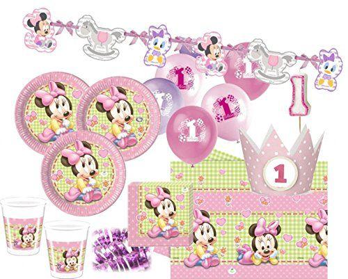 85 Teile Disney Baby Minnie Zum Ersten Geburtstag Party Deko Set 16