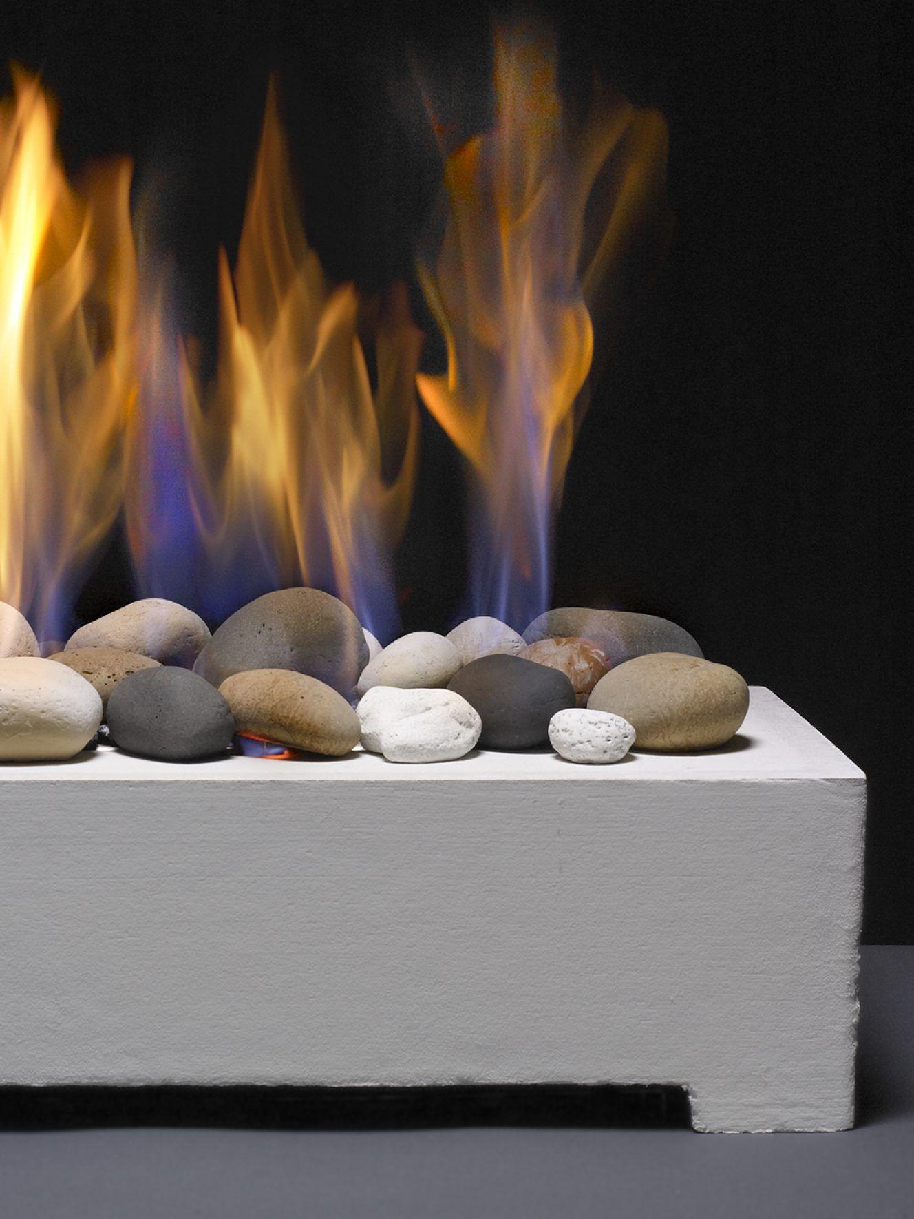 european home black fire rock ceramic vent free system