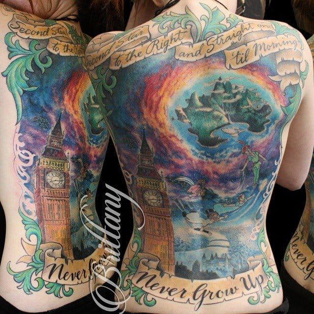 Take Me To Neverland With These Nostalgic Peter Pan Tattoos Peter Pan Tattoo Neverland Tattoo Tattoos