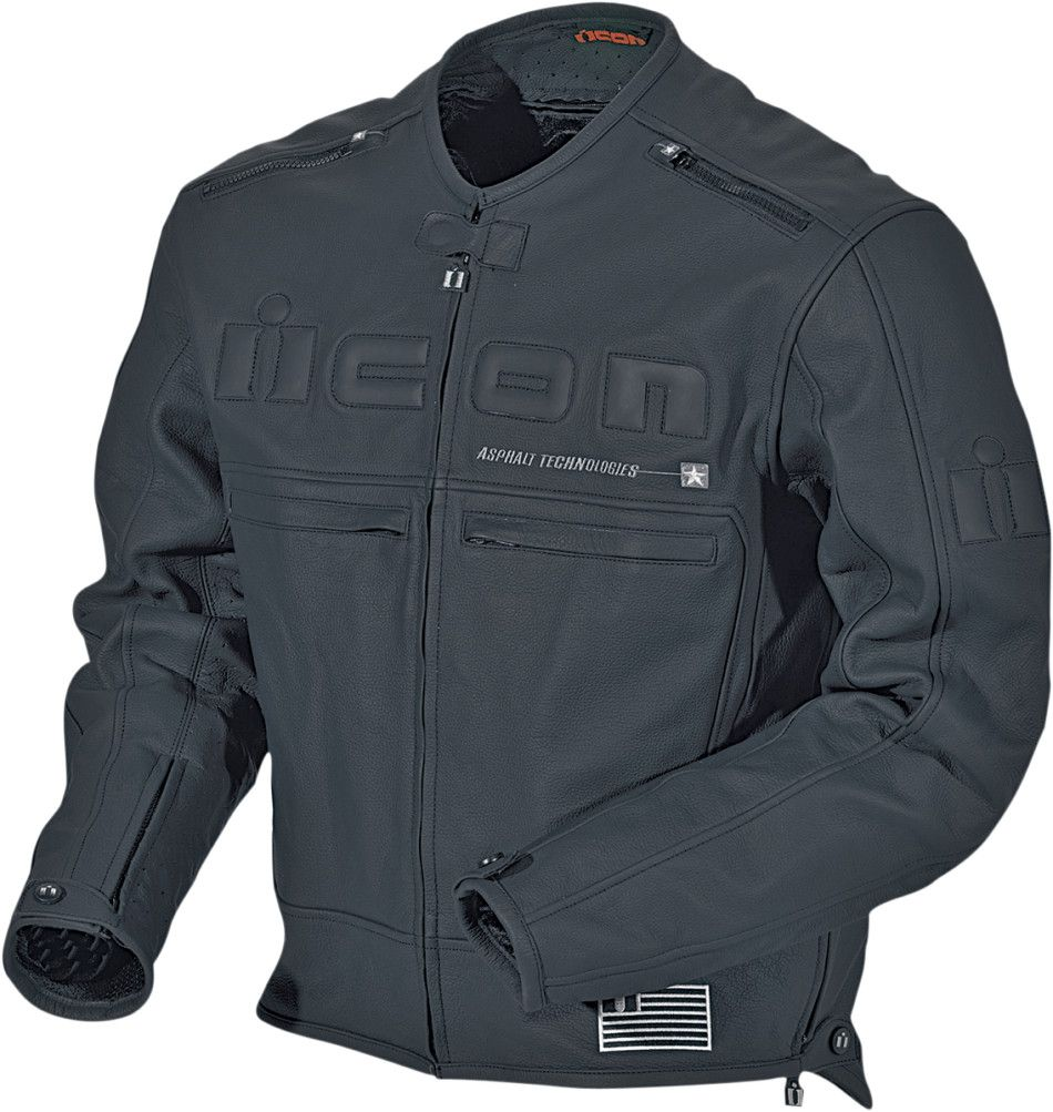 ICON MOTORHEAD 2 Leather Motorcycle Jacket Black//Stealth Choose Size