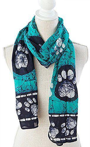 100% Cotton Batik Scarves - Border Paws
