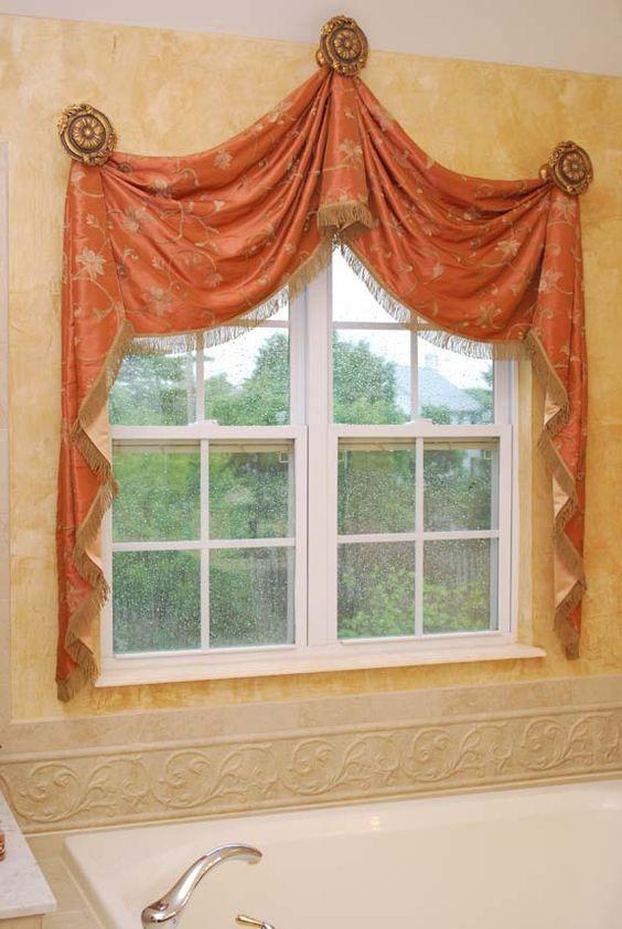 Raised swags: | Window decor, Valance window treatments ...