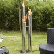 Bio-Blaze Pipes Bio-Ethanol Fireplace - Tall