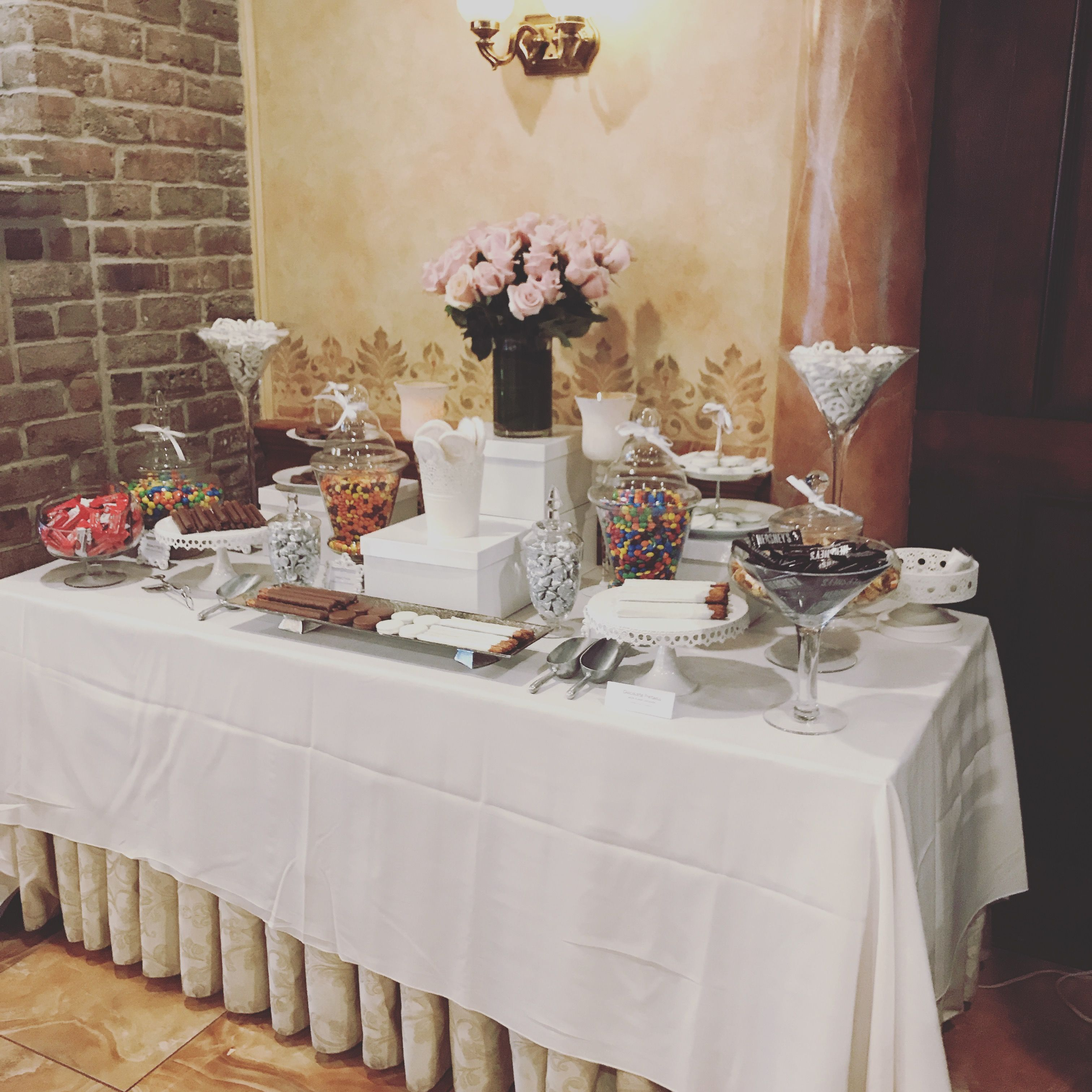 Superb New Candy Table For A Bridal Shower We Made At Ravellos In Download Free Architecture Designs Jebrpmadebymaigaardcom