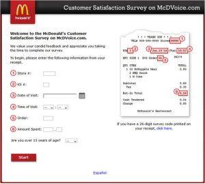 Www Mcdvoice Com Mcdonald S Customer Satisfaction Survey