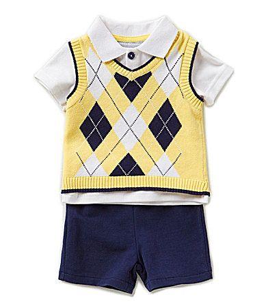 67953fcac Wendy Bellissimo Baby Boys 324 Months 3Piece Vest Set  Dillards ...