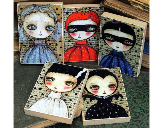 The Halloween Monsters  ACEO Giclee Collection Of by DanitaArt, $37.00