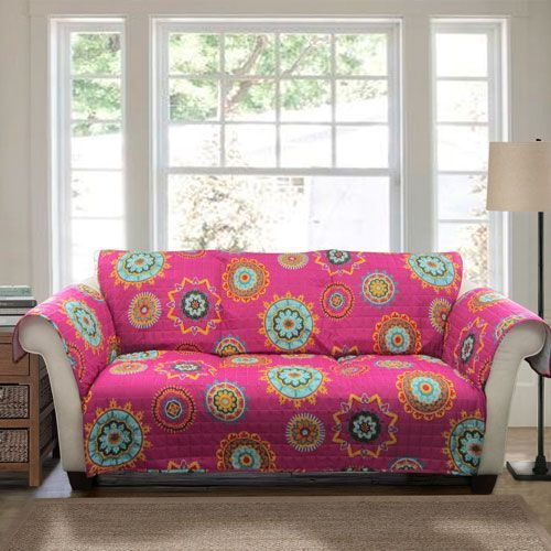 Adrianne Fuchsia Loveseat Furniture Protector | Products