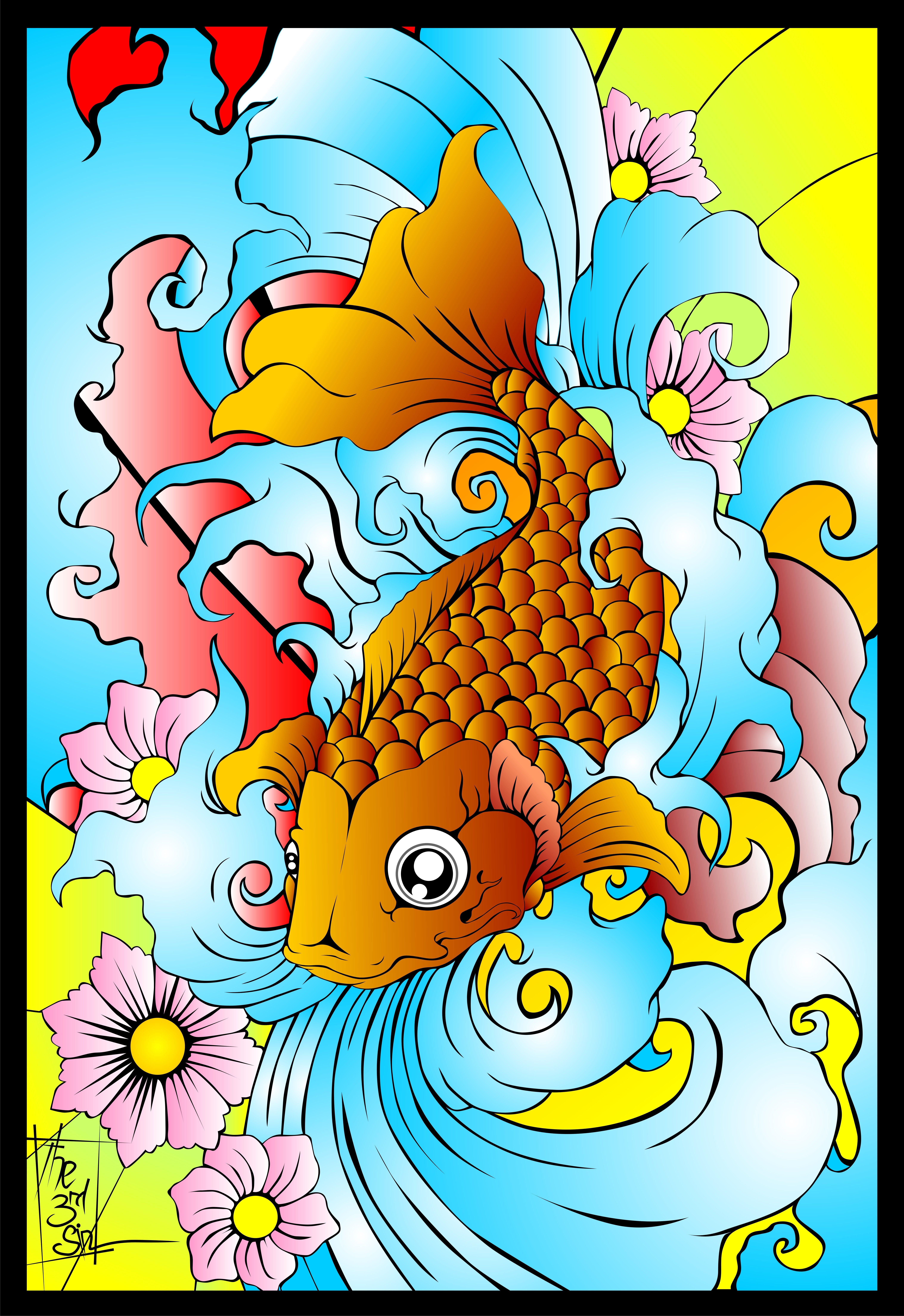 Japanese Koi Art Prints Japanese Fish Art Japanese Koi