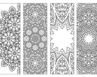 Printable Bookmarks Coloring Page Dooling By KrishTheBrand