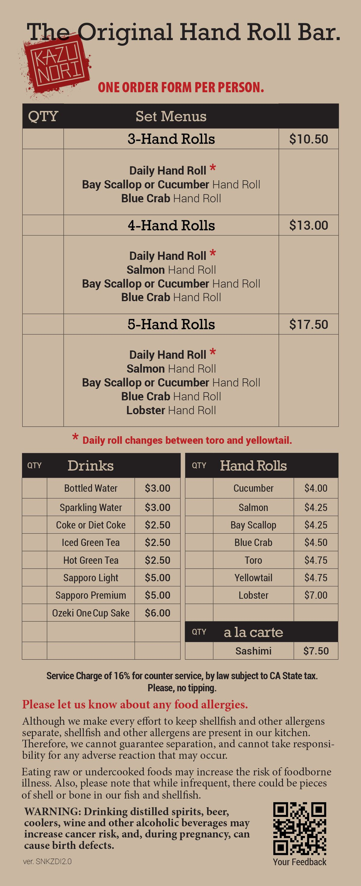 handroll bar from the owners of Sugarfish. Downtown.   Restaurants ...