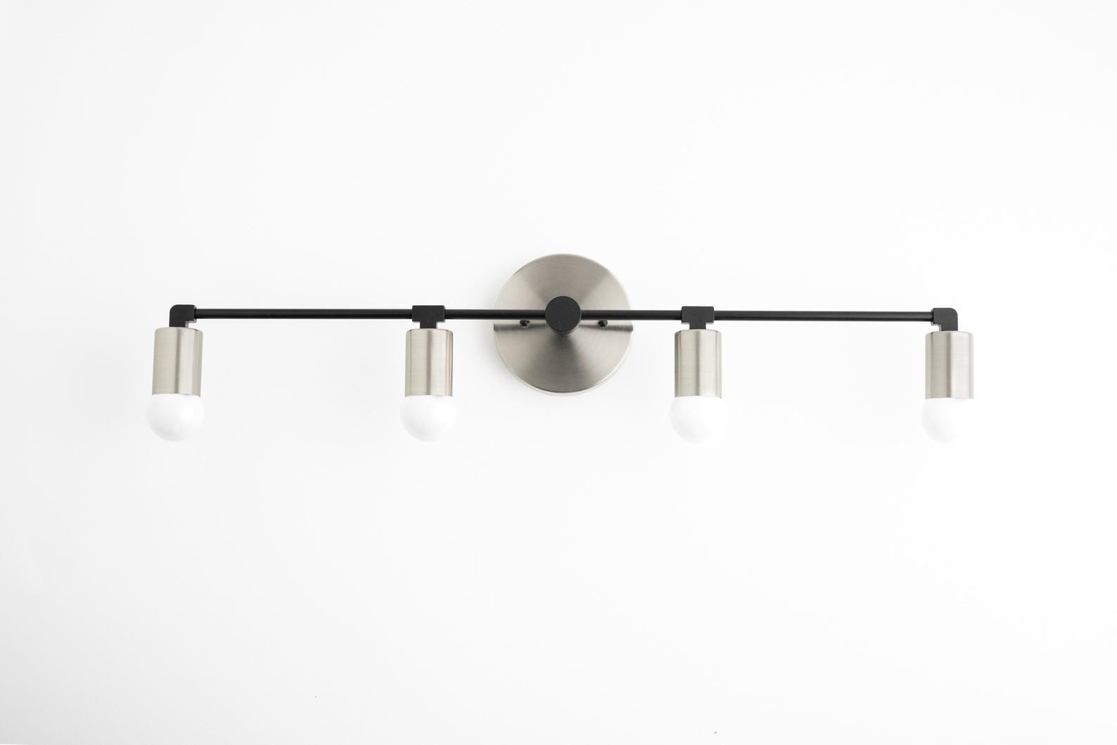 Photo of Brass basin lamp – Long basin lamp – 4 light bulbs – Bathroom lamp – Vanity lamp – Bathroom lamps – Mirror lamps – Model No. 5003