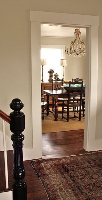 Molding around doorways look so much more elegant than a - How much is it to paint a house interior ...
