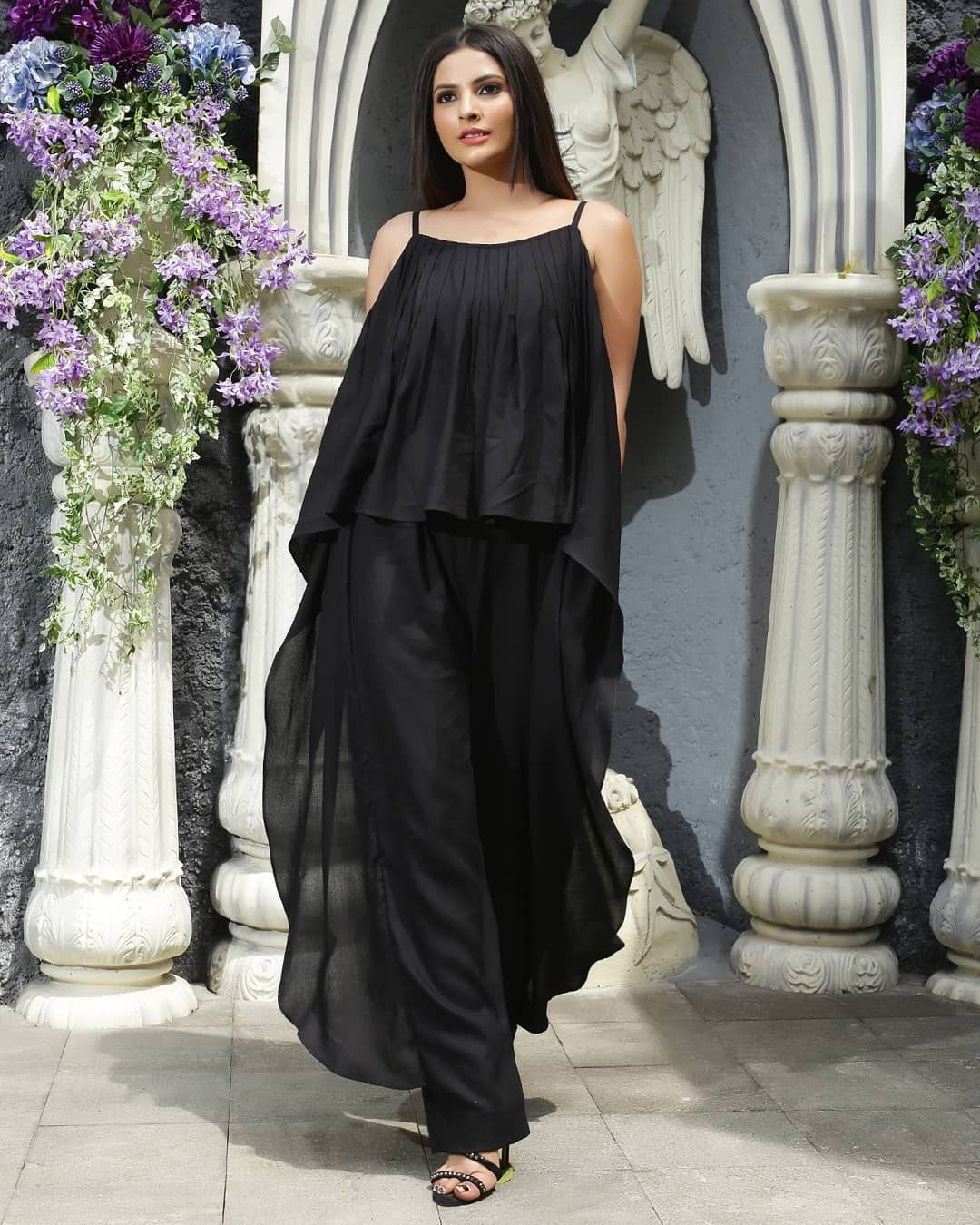 Jumpstart Your Post Lockdown With Our Jumpsuits Featuring Black Pleated Jumpsuit Jumpsuit Bla Pleated Jumpsuit Womens Black Dress Party Wear Dresses [ 1350 x 1080 Pixel ]