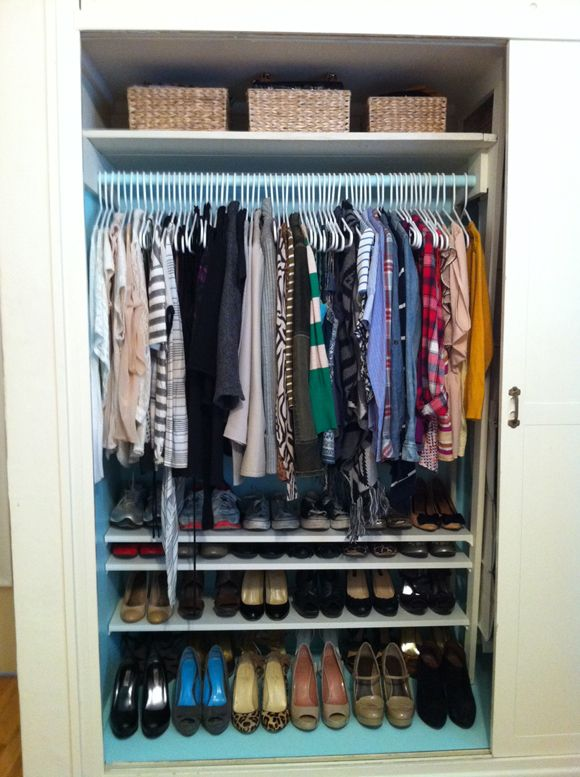 Beau I Want To Paint My Closet And Make My Own Shoe Shelves Now Closet Makeover 4