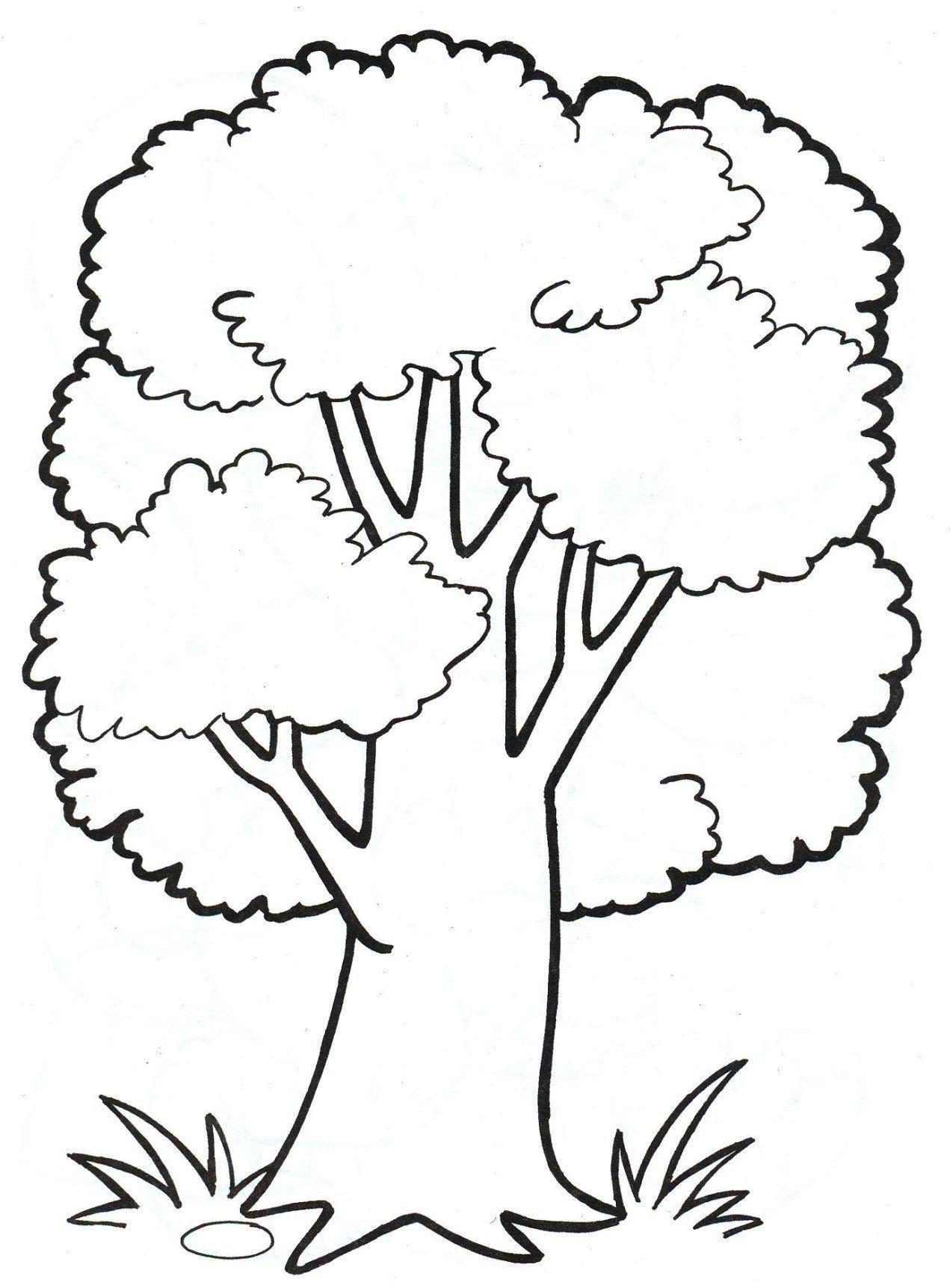 Malvorlagen Baum