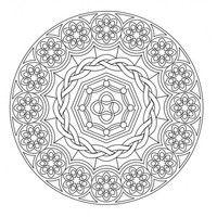 Desenho De Mandala Dificil Para Adultos Para Colorir Con Imagenes