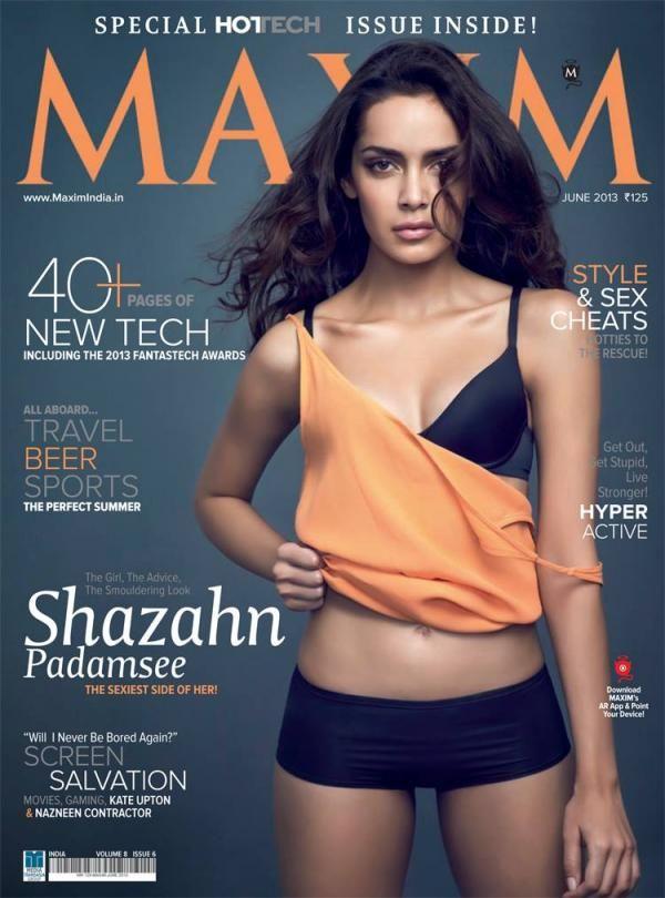 Hot Shazahn Padamsee on the cover of Maxim | Bollywood Fashion ...
