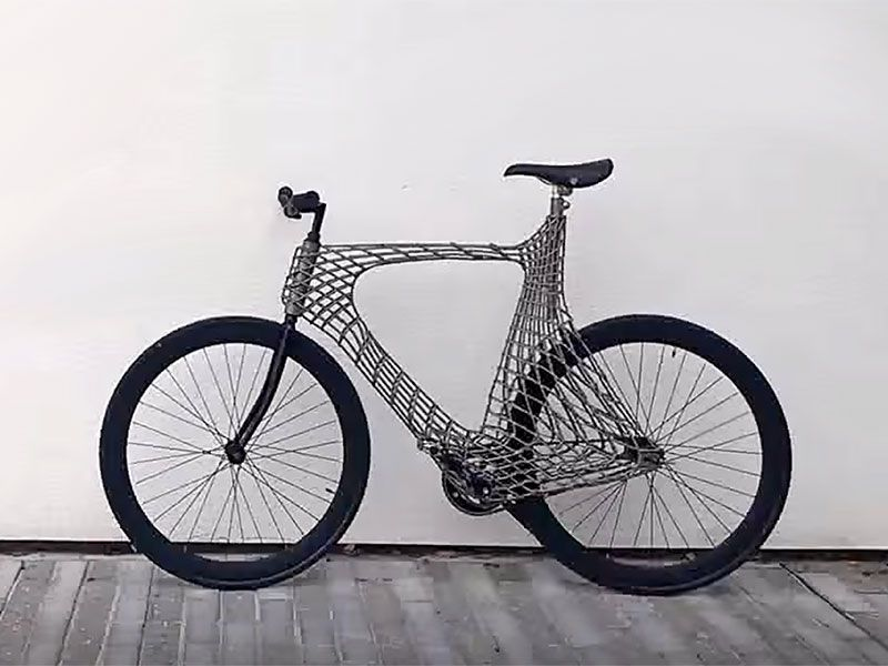 Wild 3d Printed Arc Bicycle Forecasts The Future Bicycle Cool