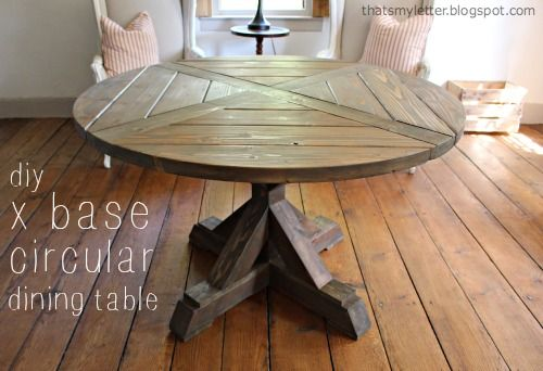 DIY X Base Circular Dining Table Circular dining table