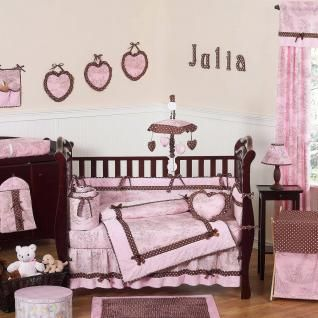 This Elegant Baby Girl Crib Bedding Set Uses A Traditional French