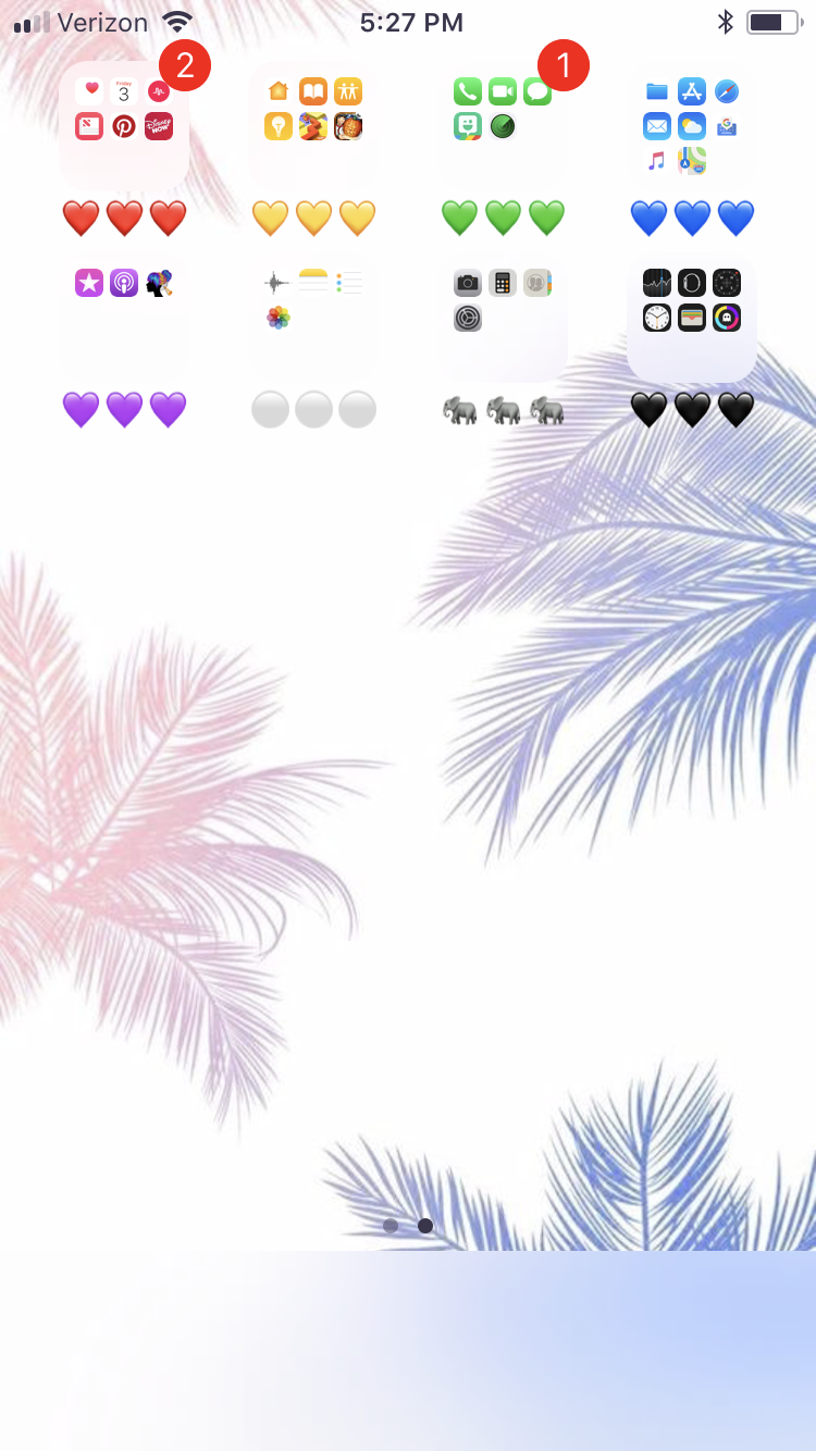 Color code your apps!😇💓 Iphone home screen layout