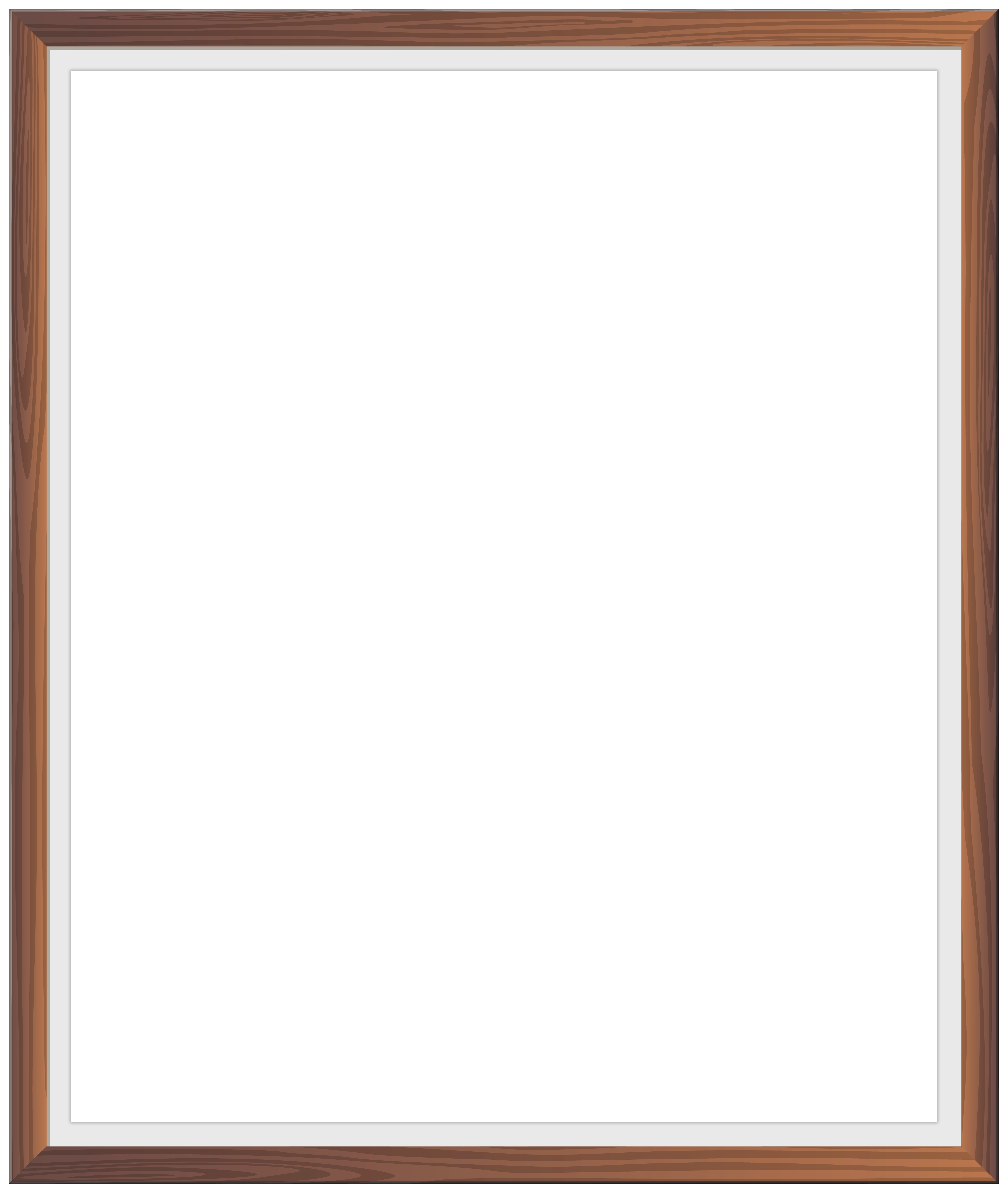 Simple Wooden Frame Png Clip Art Image Gallery Yopriceville High Quality Images And Transparent Png Free Clipart White Vinyl Upvc Brown And Grey