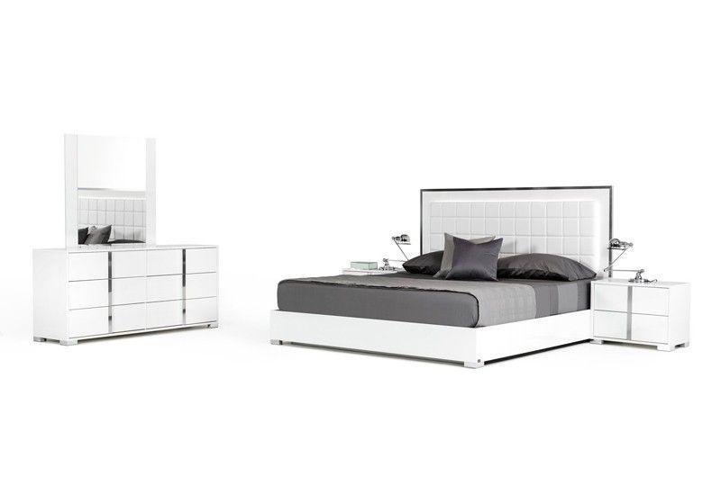 Vig Furniture Modrest San Marino Modern White California King