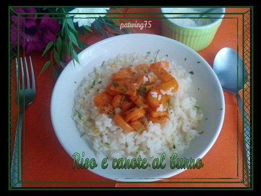 Riso e carote al burro