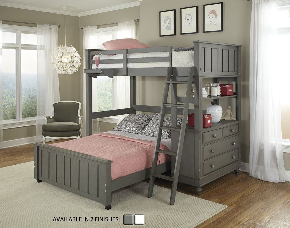 Holly Loft with Full Size Lower Bed Twin loft bed, Bunk