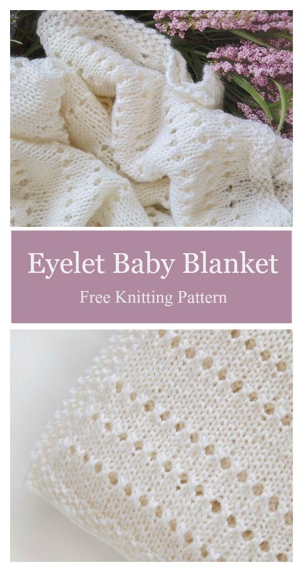 Eyelet Baby Blanket Free Knitting Pattern Knit Baby Blankets