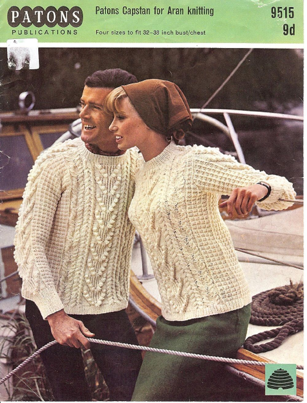 Patons knitting pattern 9515 ladys mans aran sweater knitting patons knitting pattern 9515 ladys mans aran sweater bankloansurffo Gallery