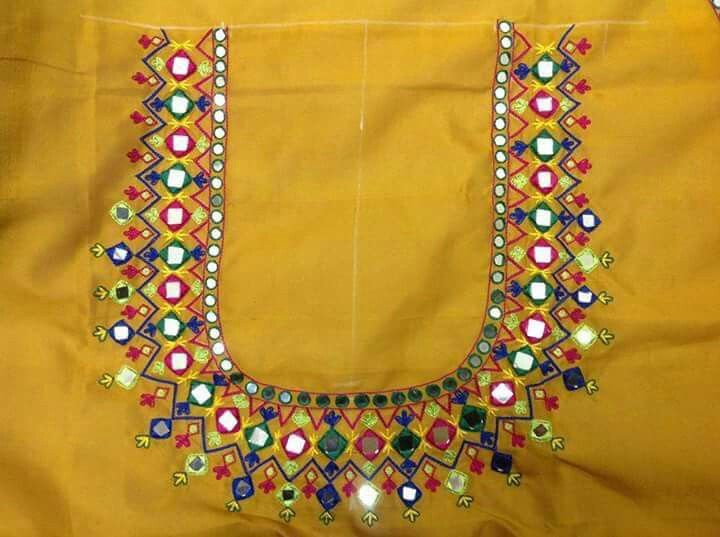 Embroidery neck pattern | EKTA CREATIONS EMBROIDERY ...