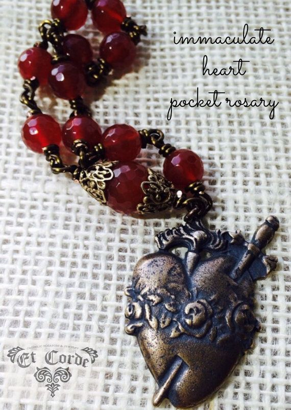 Immaculate Heart Pocket Rosary Chaplet Tenner by Et Corde Rosaries & Jewelry #rosaryjewelry