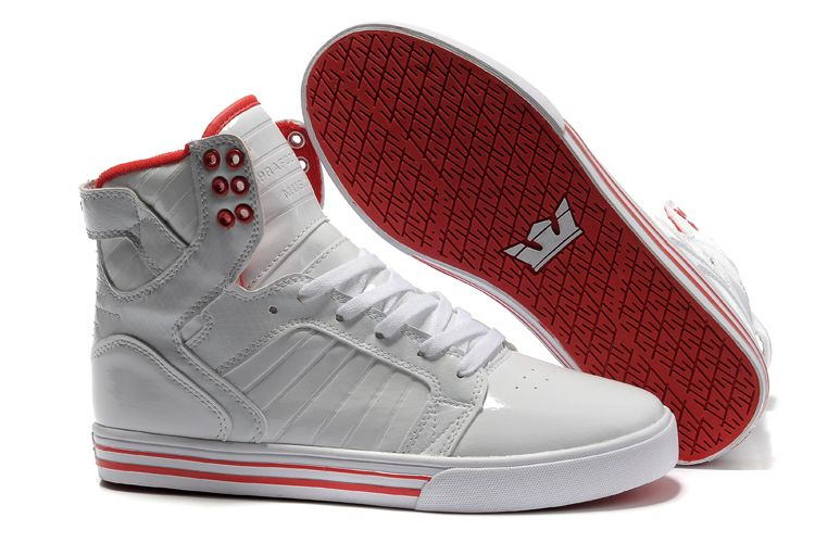 Supra Skytop Womens Shoes White Red