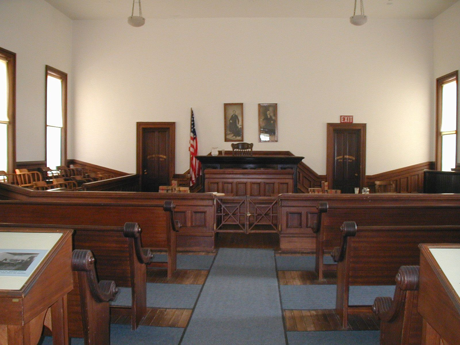 Inside Cochise County Courthouse in Tombstone, Arizona