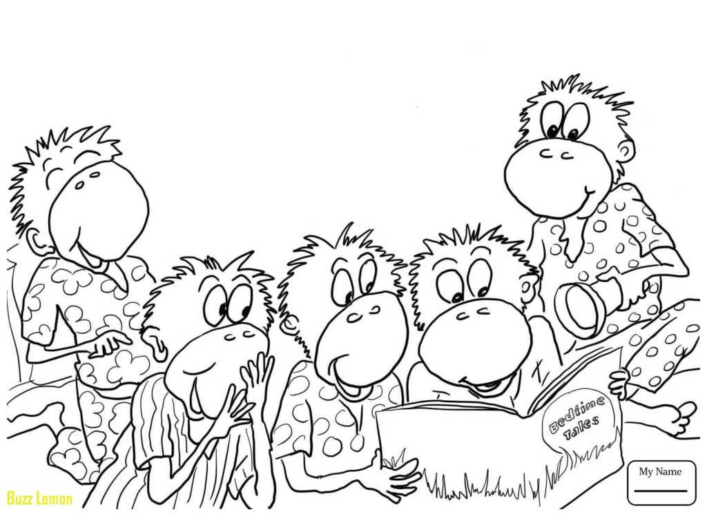 29++ Monkeys jumping on the bed coloring page free download