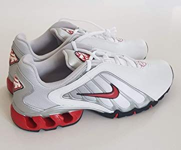 4601f5aa2ebca Nike IMPAX KWIKN Trainers Shoes White Red Black Metallic Silver Original  2005 UK 9