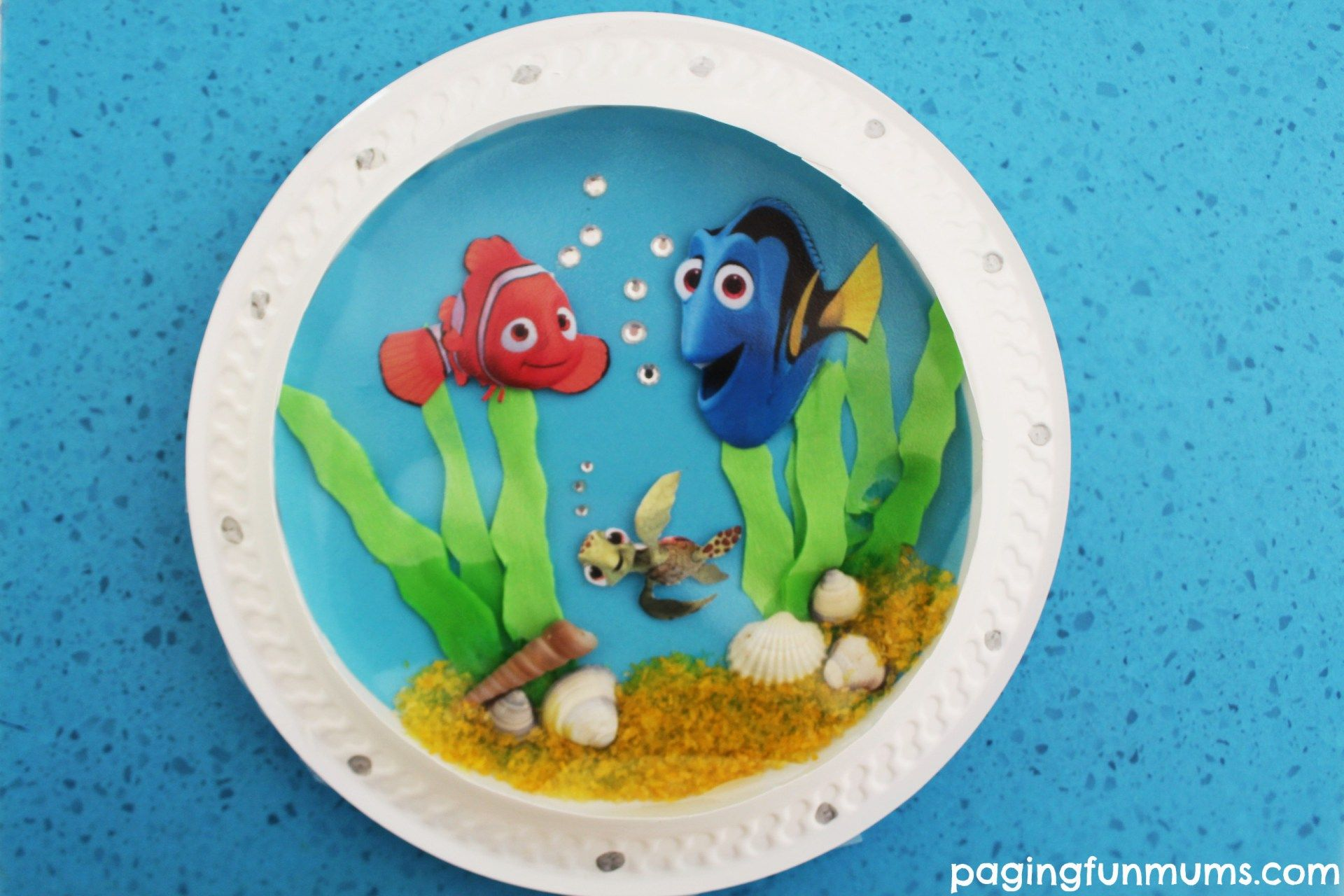 Tissue Paper Adorable Finding Dory Inspired Porthole Fish Craft