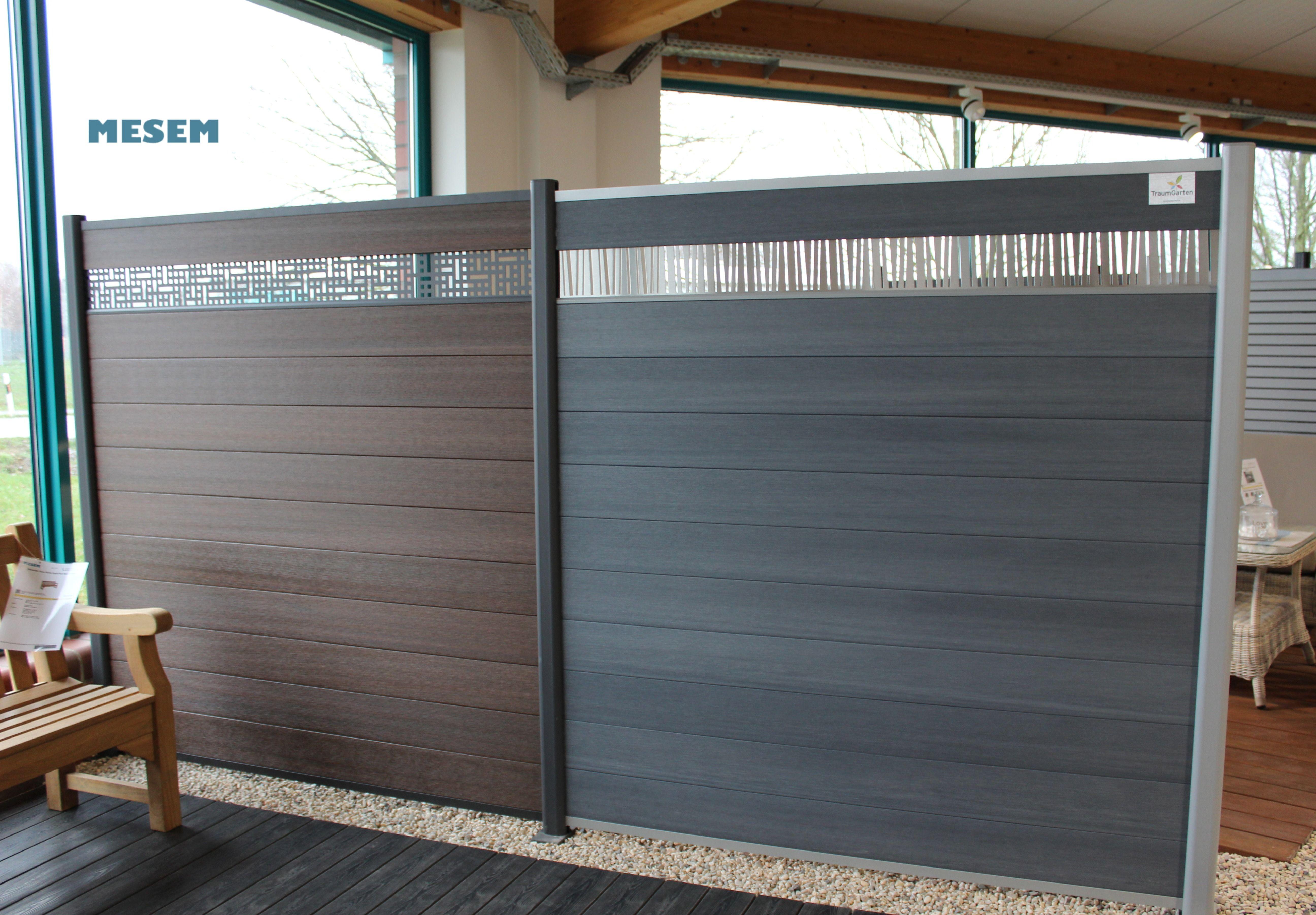 Der Artikel Zaunanlage System Wpc Platinum Grau Braun Ist Vor Ort