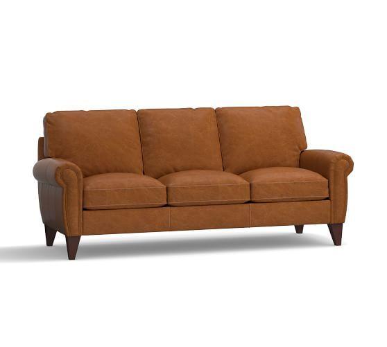 Porter Leather Sofa Leather Sofa Sofa Small Room Decor