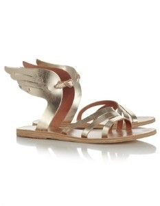 Gold Ikaria Winged Sandals $255 at avenue32.com